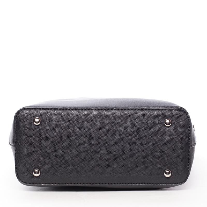 Dámská luxusní kabelka do ruky MICHELE, černá