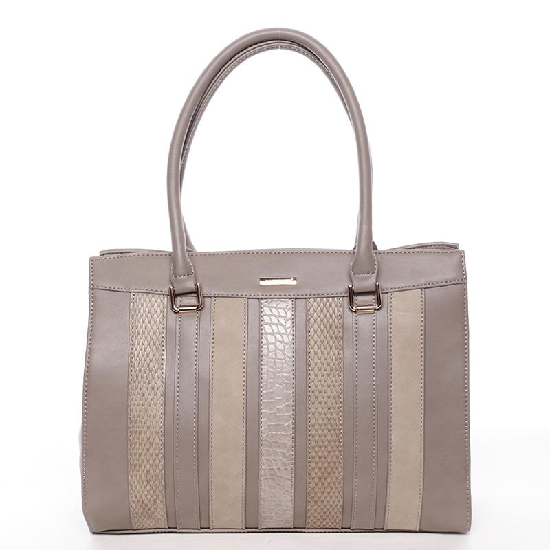 Stylová elegantní kabelka do ruky JEANNINE, oříšková