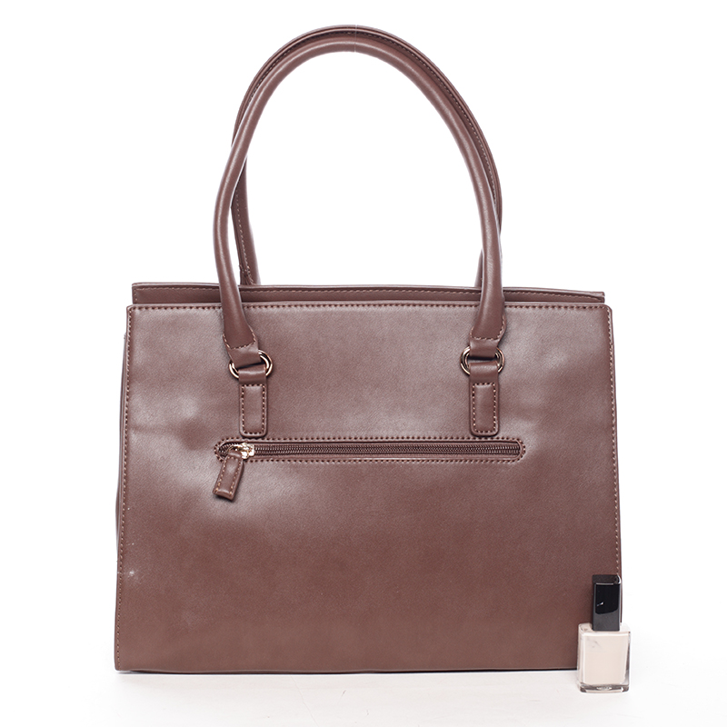 Stylová elegantní kabelka do ruky JEANNINE, tmavě hnědá