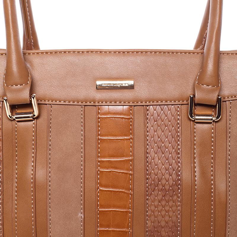Stylová elegantní kabelka do ruky JEANNINE, koňaková