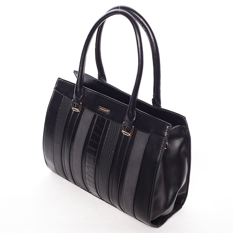 Stylová elegantní kabelka do ruky JEANNINE, černá