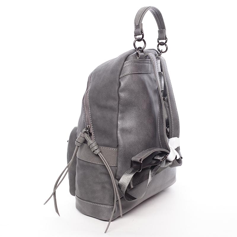 Dámský prostorný batoh Ericka, tmavě šedý