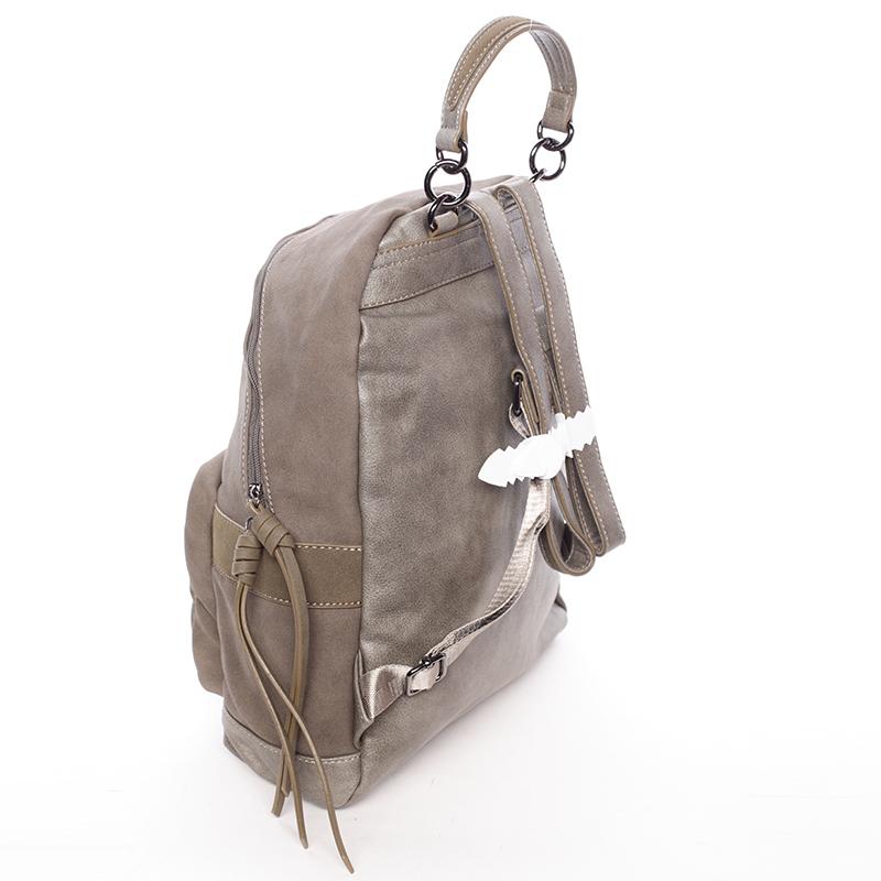 Dámský prostorný batoh Ericka, tmavá khaki