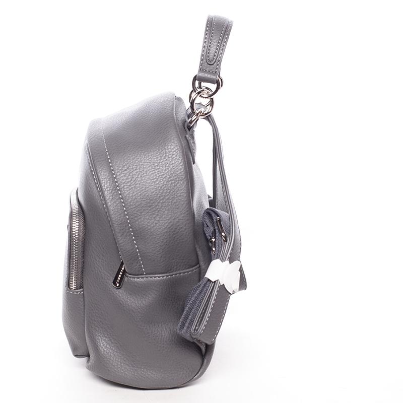Městský trendy batůžek Raquel, tmavě šedý