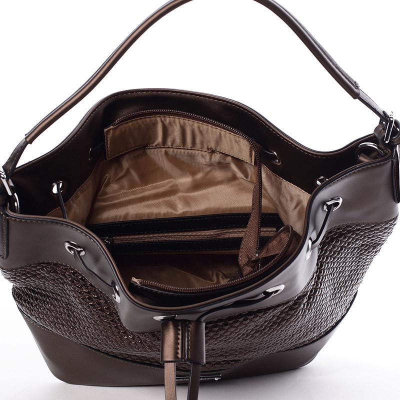 Originální kabelka ve stylu vaku Isabell, kávová