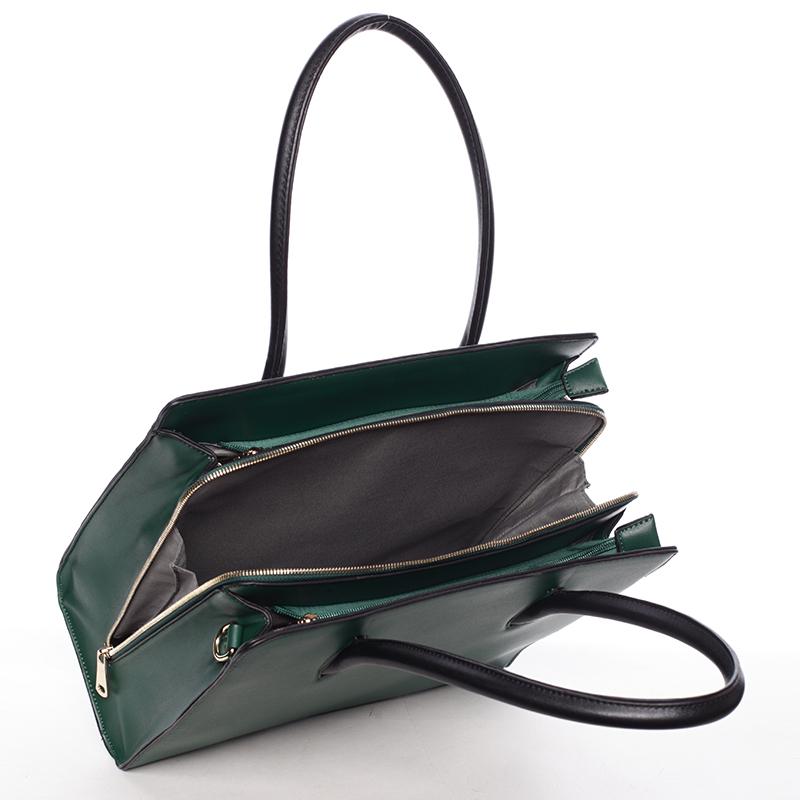 Luxusní dámská kabelka do ruky NATHALIE, zelená