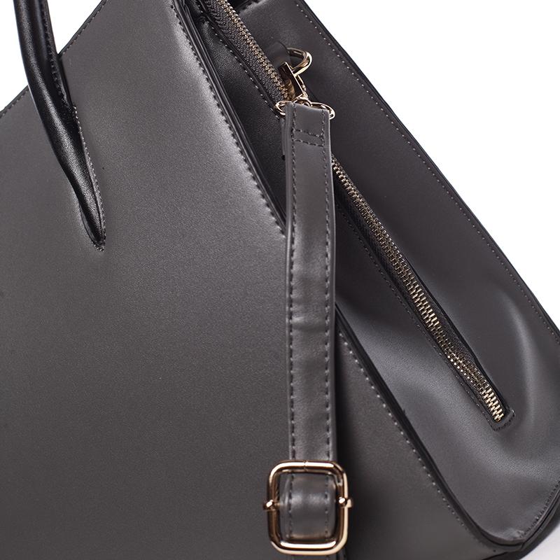 Luxusní dámská kabelka do ruky NATHALIE, šedá
