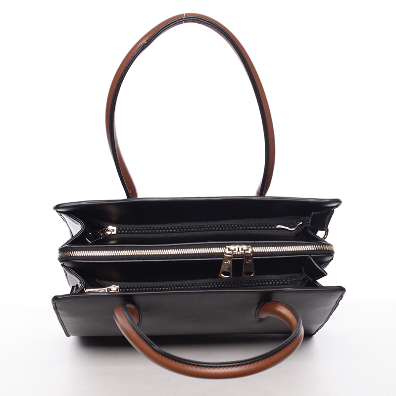 Luxusní dámská kabelka do ruky NATHALIE, černá