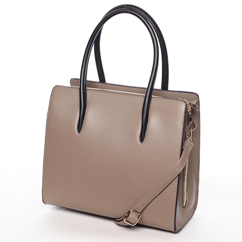 Luxusní dámská kabelka do ruky NATHALIE, meruňková