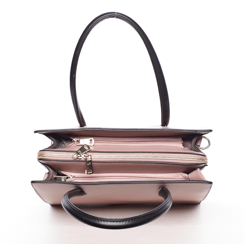 Luxusní dámská kabelka do ruky NATHALIE, růžová