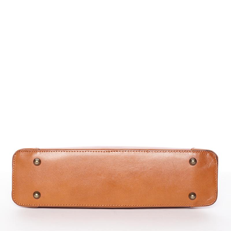 Dámská kožená kabelka PING C 226/8/1 dark camel