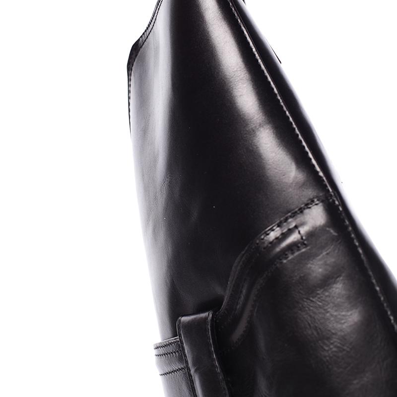 Dámský kabelko-baťůžek kožený Fortunata, černý