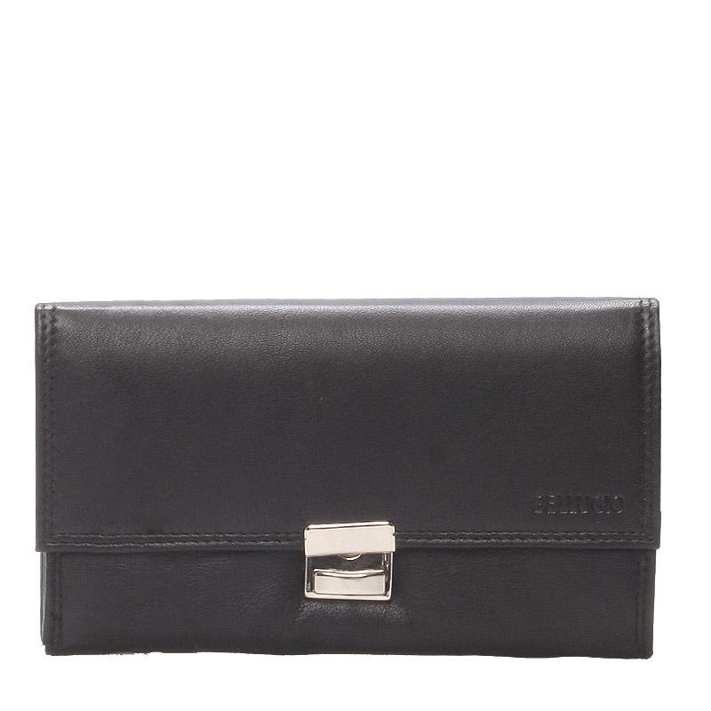 Číšnická luxusní velká kožená kasírtaška černá Dream