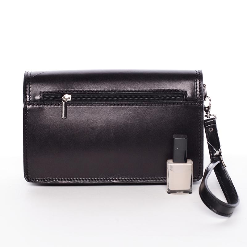 Pánská kožená klasická taška do ruky Marty Silver Edition, černá