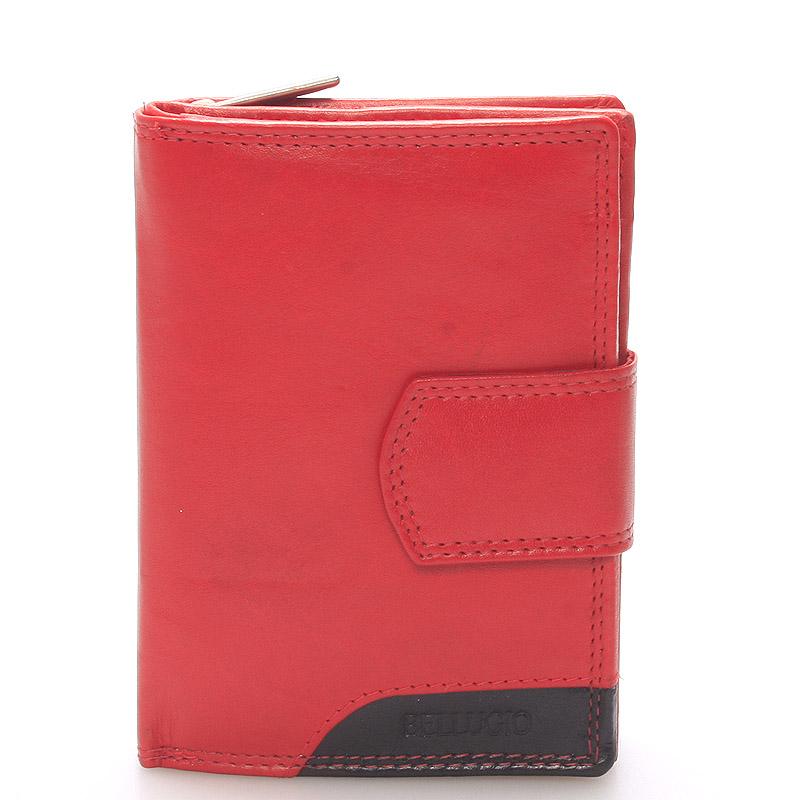 Dámská kožená peněženka červená Bellugio Eva