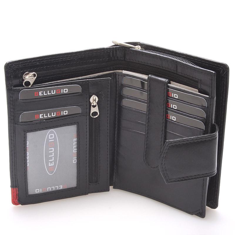 Dámská kožená peněženka černá Bellugio Eva