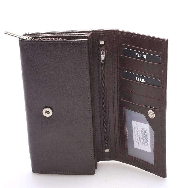 Dámská kožená hnědá peněženka Ellini London