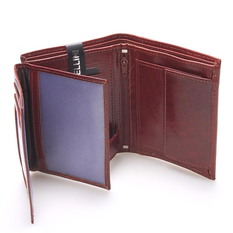 Pánská kožená peněženka hnědá Ellini Franco