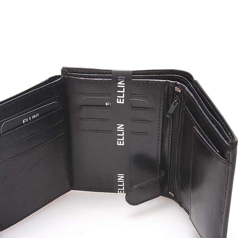 Pánská kožená peněženka černá Ellini Franco