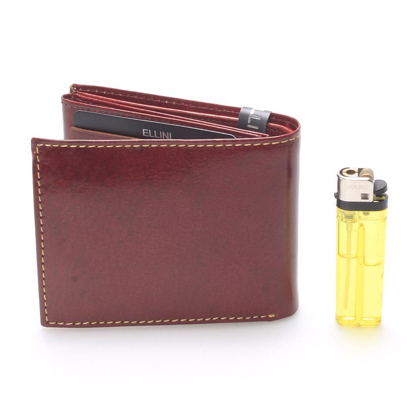Pánská kožená peněženka hnědá Ellini Vitorio