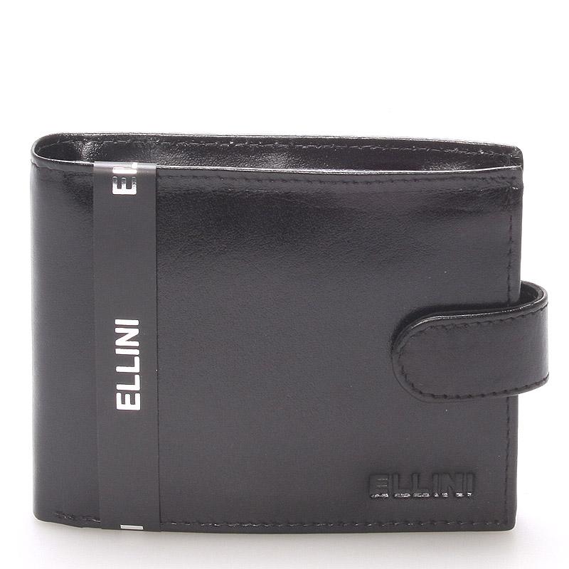 Pánská kožená peněženka černá Ellini Vitorio