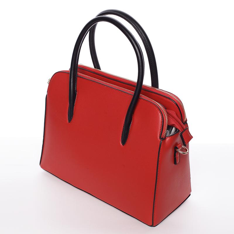 Dámská stylová kabelka do ruky i přes rameno Linda, červená