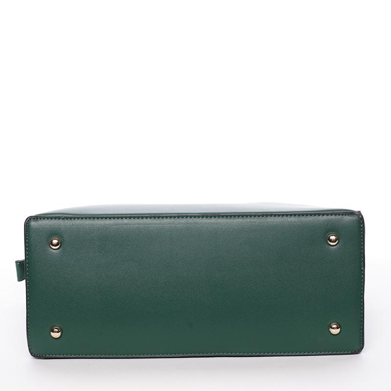 Dámská stylová kabelka do ruky i přes rameno Linda, zelená