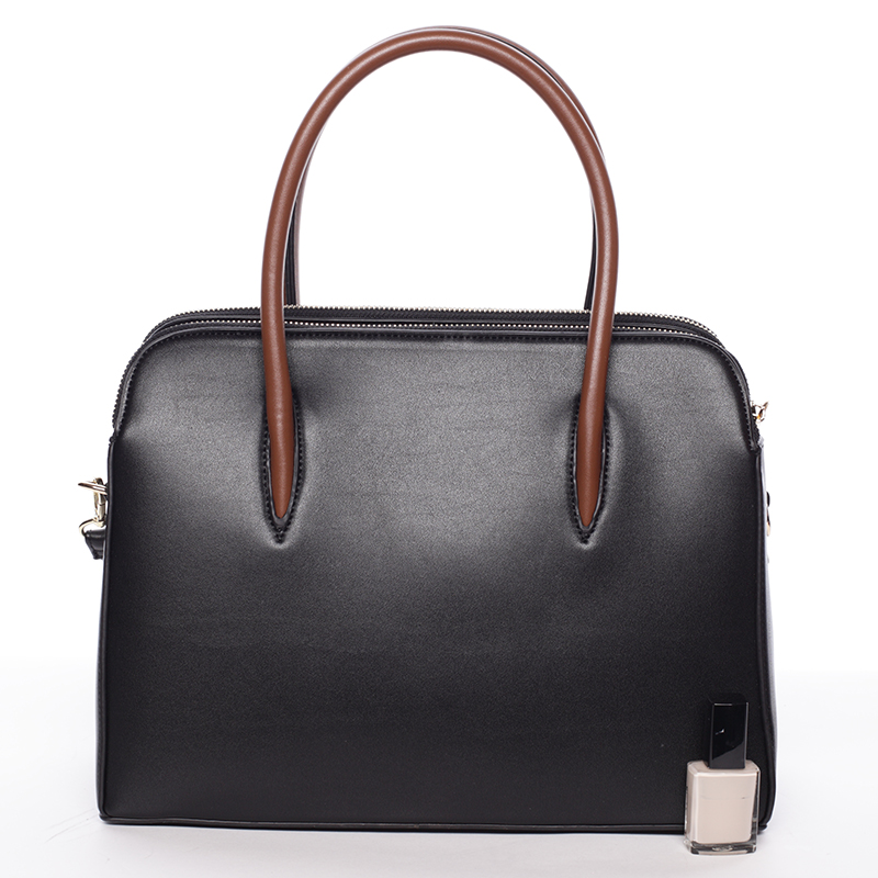 Dámská stylová kabelka do ruky i přes rameno Linda, černá