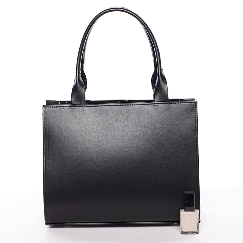 Dámská menší značková kabelka do ruky Delami MAY, černá