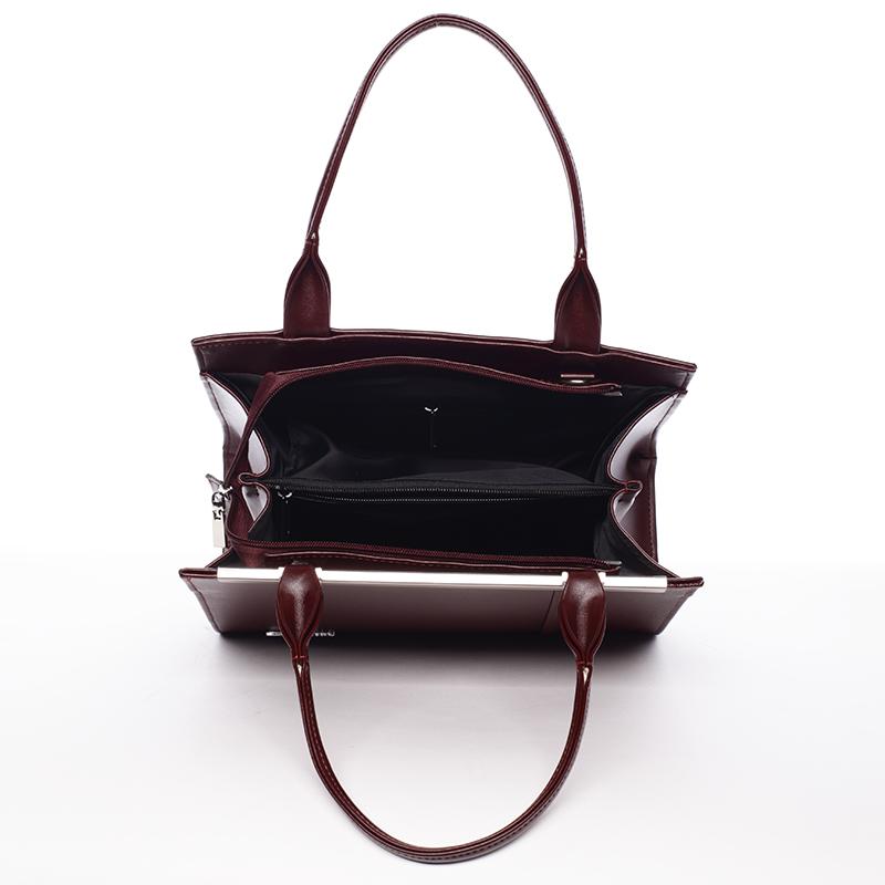 Dámská menší značková kabelka do ruky Delami MAY, bordo