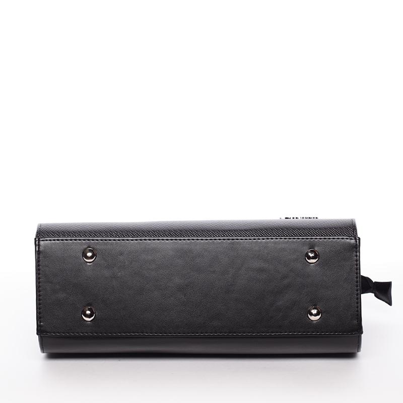 Luxusní kabelka do ruky Janet, černá hrubá