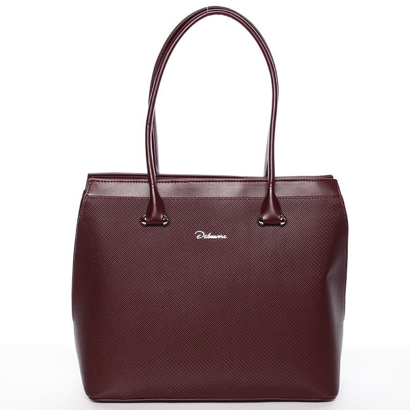 Luxusní dámská kabelka přes rameno Heidi, bordó hrubá
