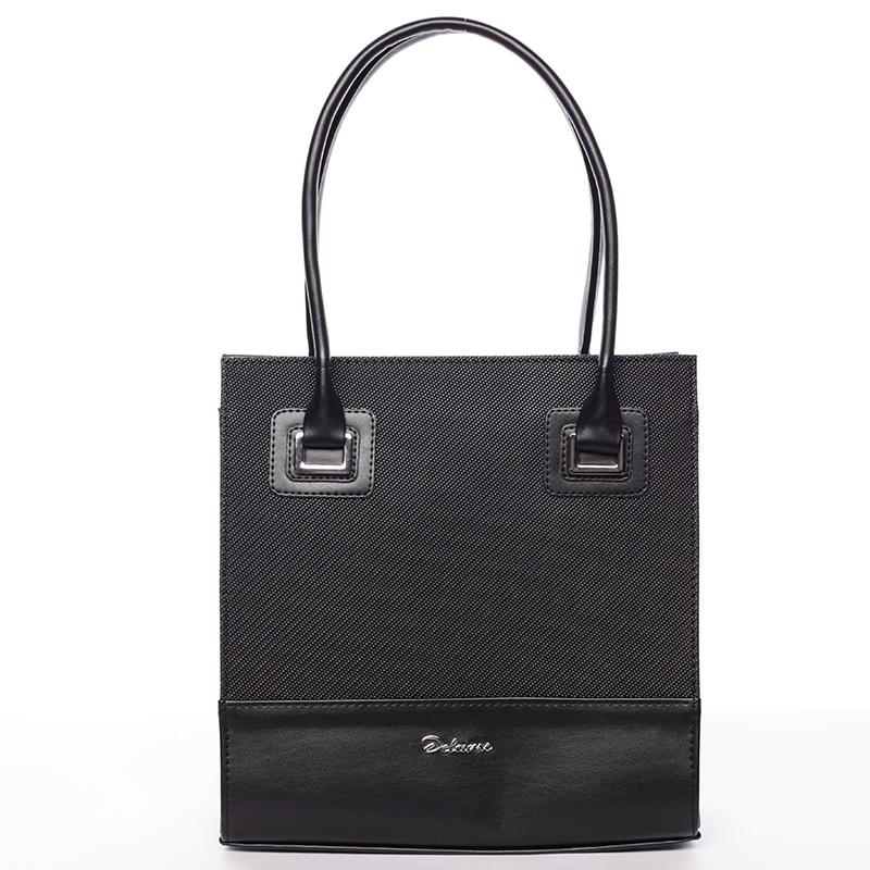 Luxusní kabelka Evelína, černá hrubá