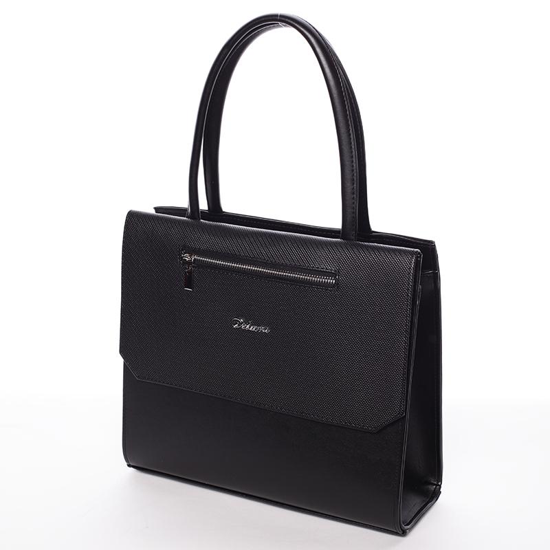Luxusní kabelka do ruky Nazarena, černá hrubá