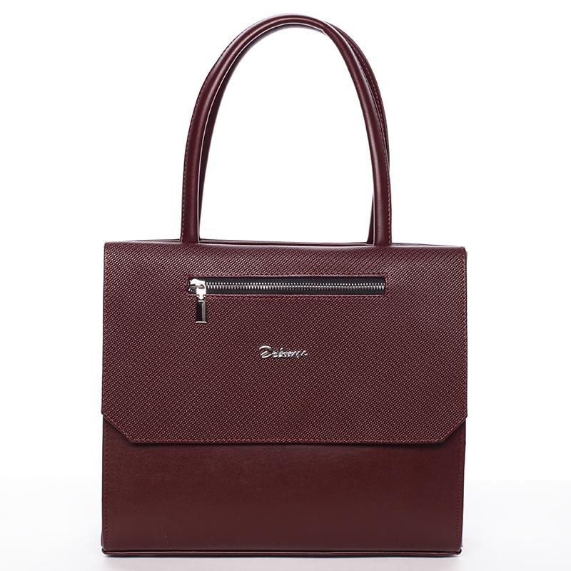 Luxusní kabelka do ruky Nazarena, bordó hrubá