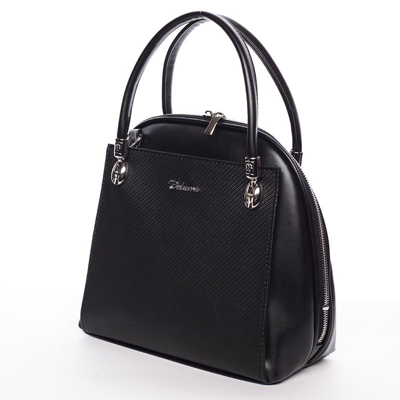 Luxusní kabelka do ruky Lillie, černá hrubá