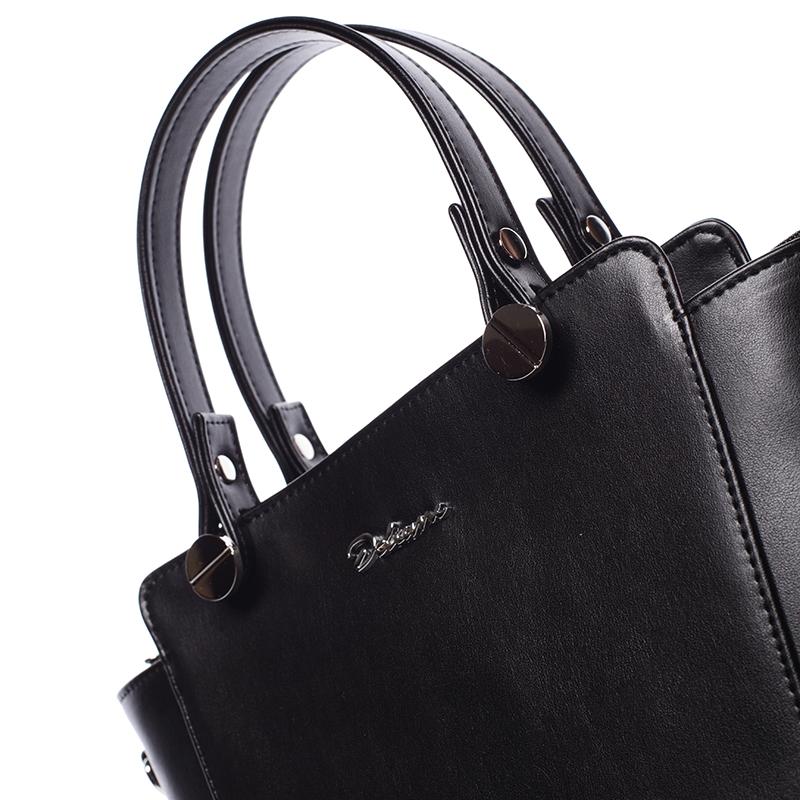 Elegantní dámská kabelka do ruky FRANCOISE, černá matná