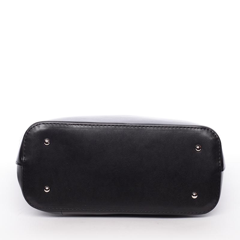 Luxusní kabelka přes rameno Regina, černá hrubá
