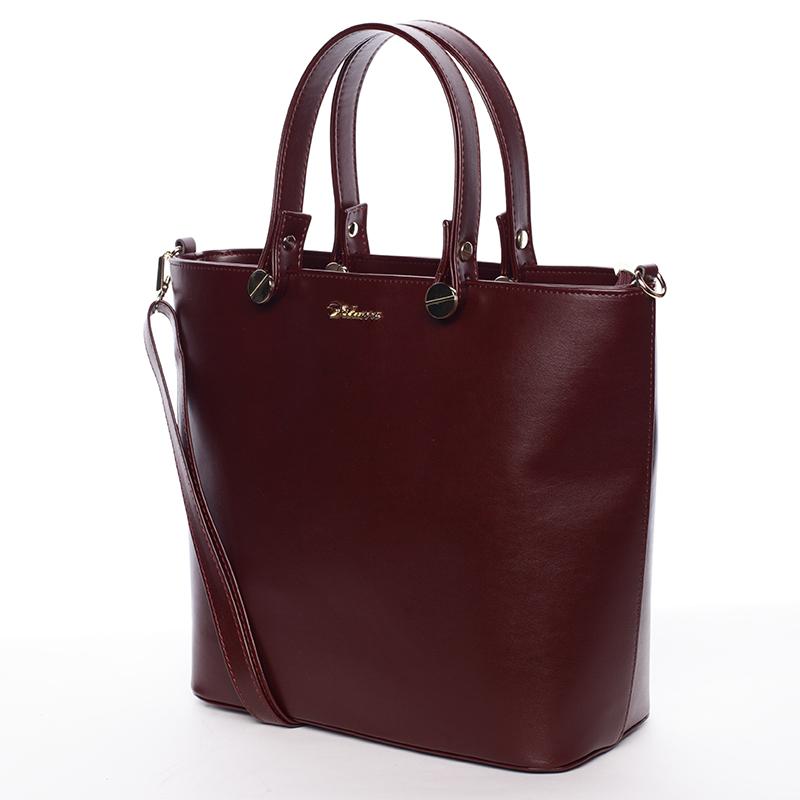Atraktivní kabelka Helen, bordo hrubá
