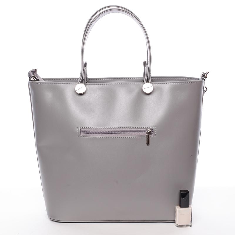 Atraktivní kabelka Helen, tmavě šedá hrubá