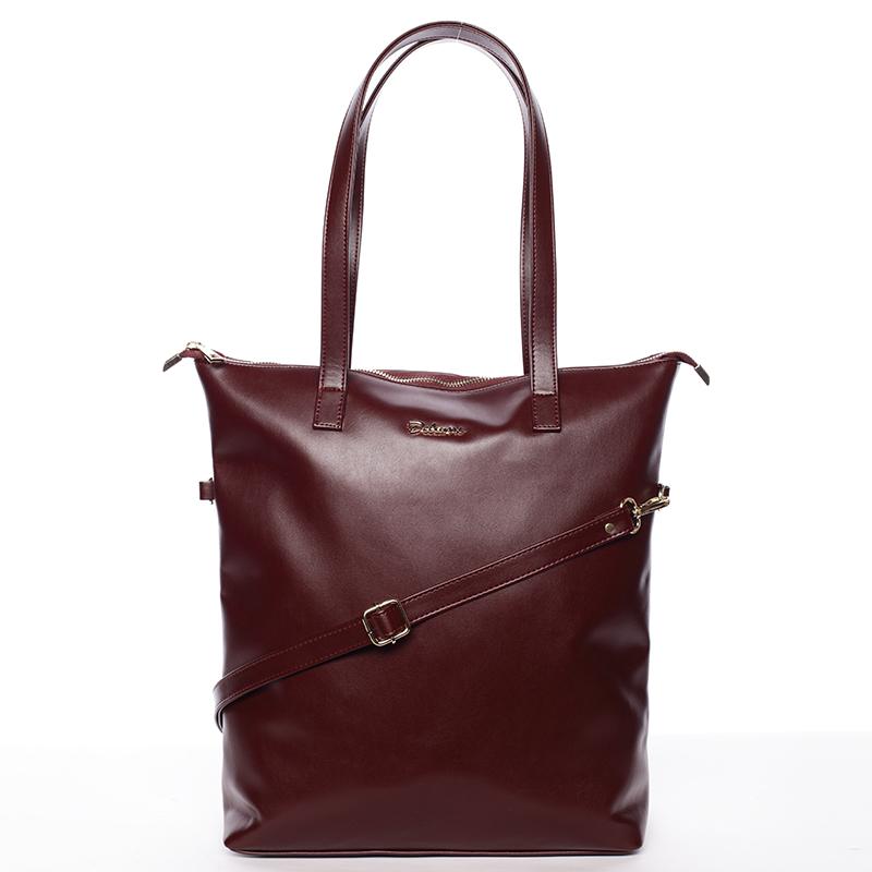 Dámská značková kabelka přes rameno Delami Sherry, bordo