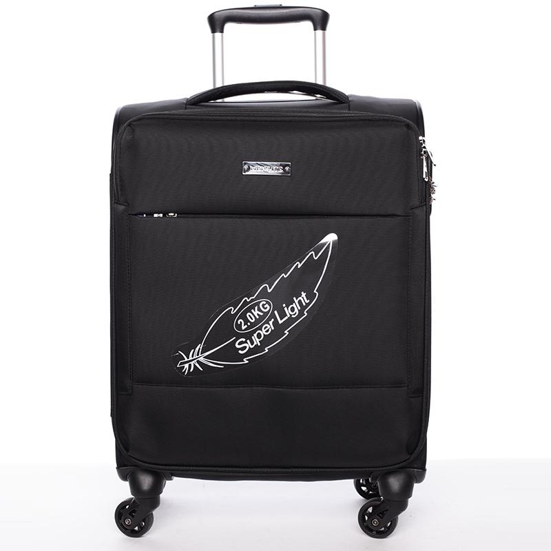 Odlehčený cestovní kufr Mahel, černý 4. kolečka, vel. I