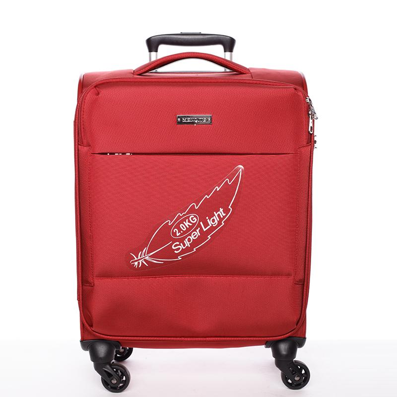 Odlehčený cestovní kufr Mahel, červený 4. kolečka, vel. I