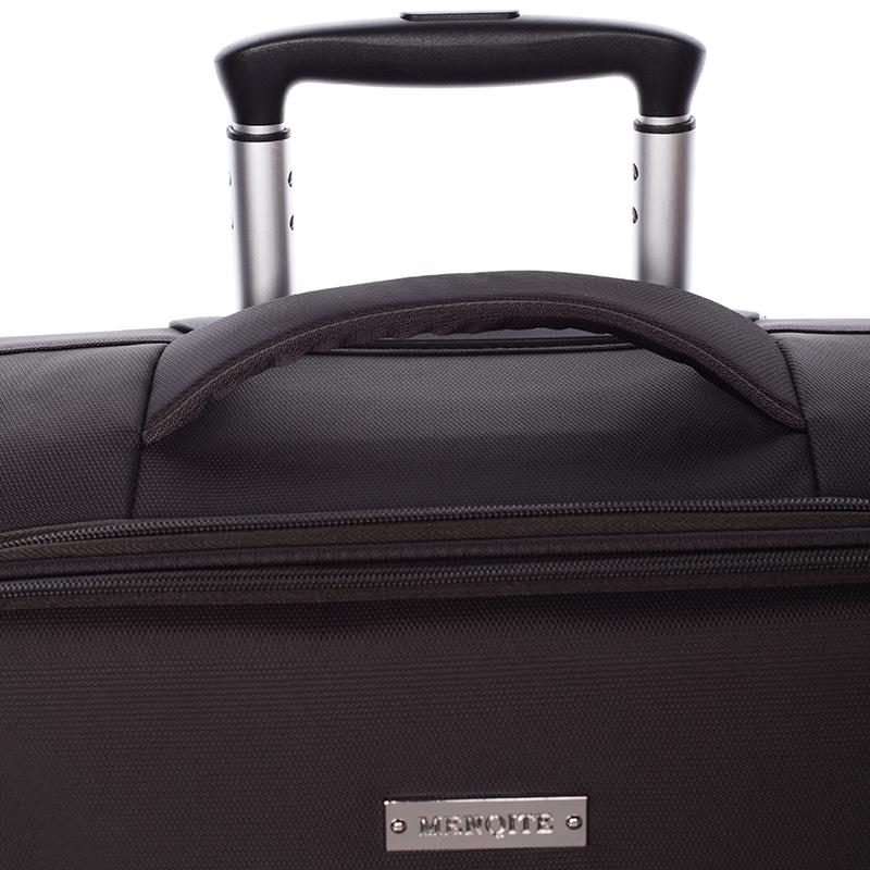 Odlehčený cestovní kufr Mahel, hnědý 4. kolečka, vel. I
