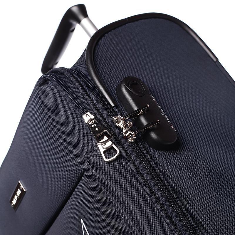 Odlehčený cestovní kufr Mahel, modrý 4. kolečka, vel. I