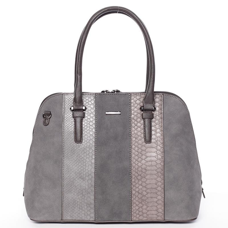 Designová dámská kabelka do ruky David Jones Karen, tmavě šedá