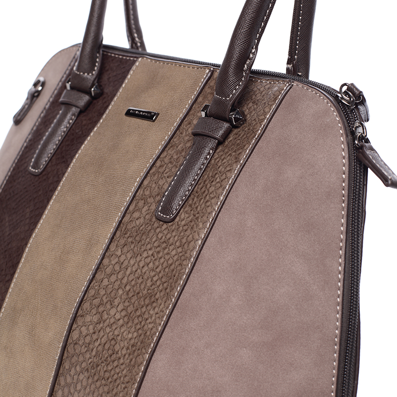Designová dámská kabelka do ruky David Jones Karen, tmavě hněda