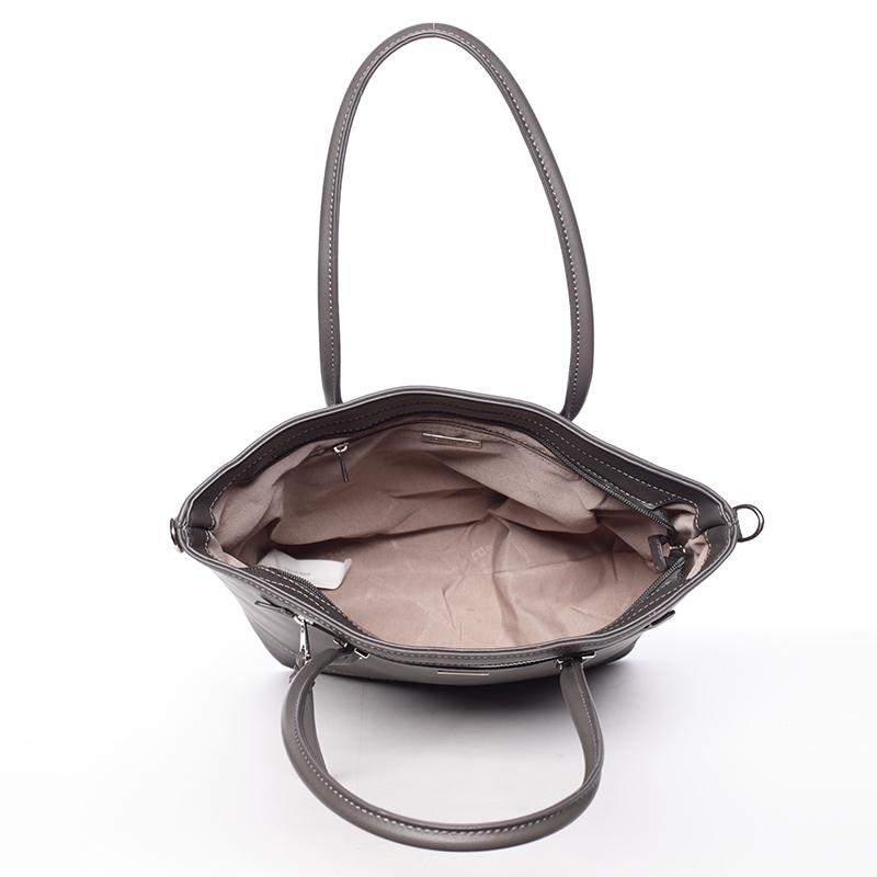 Designová dámská kabelka do ruky David Jones Leny, tmavě šedá