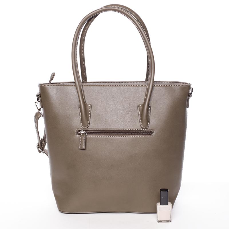 Designová dámská kabelka do ruky David Jones Leny, khaki