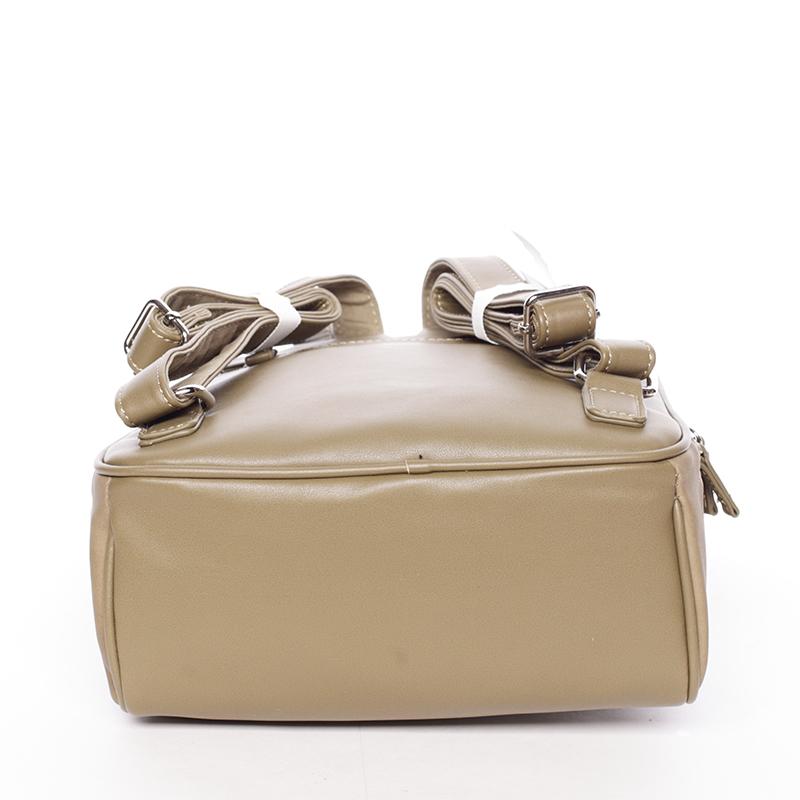 Dámský elegantní batůžek David Jones Avis, khaki